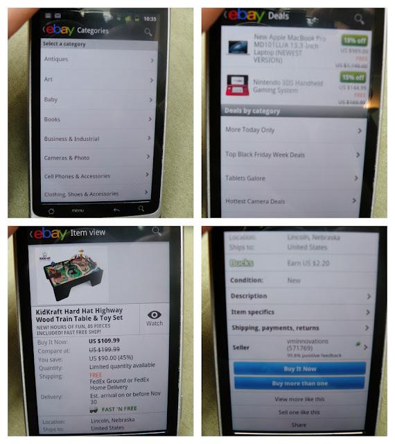 Shopping on eBay App