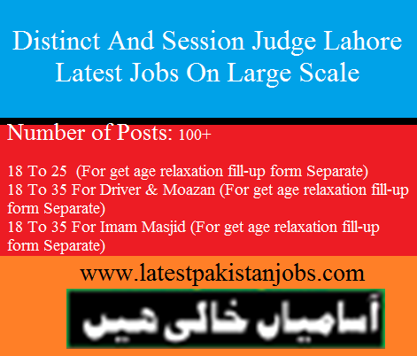 Distinct And Session Judge Lahore