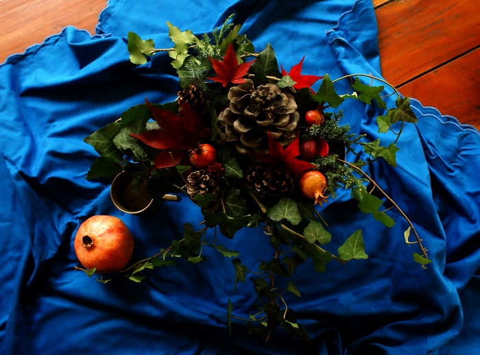 diy winter fall floral arrangement