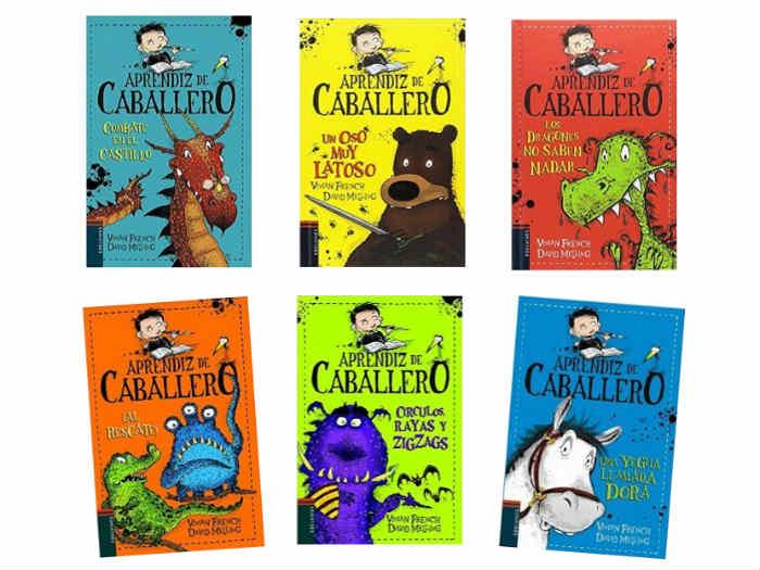 colección aprendiz de caballero libros infantiles con capítulos