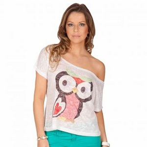 blusa branca; blusa branca com coruja;blusa de corujas branca