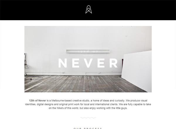 12TH OF NEVER - Desain Web Keren