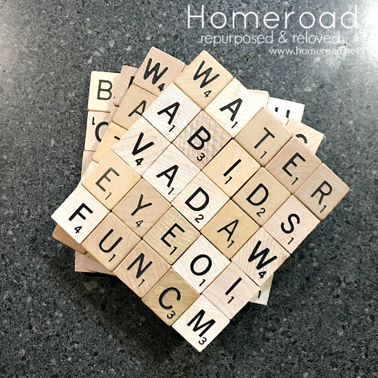 Beach themed Scrabble tile Coasters