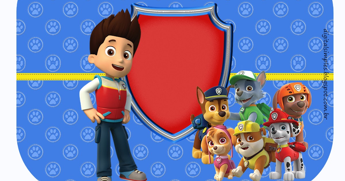 Paw Patrol Birthday Party: Free Printable Candy Bar Labels ...