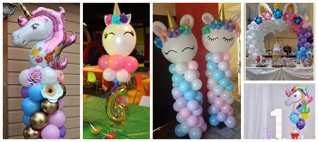 decorar-fiesta-unicornio-con-globos