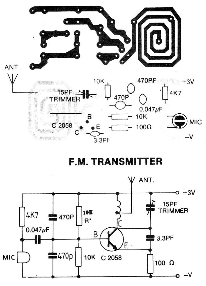 simple fm transmitter circuit diagram view diagram