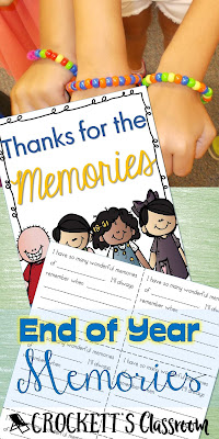 Relive the wonderful memories from the school year with this unique activity and booklet.