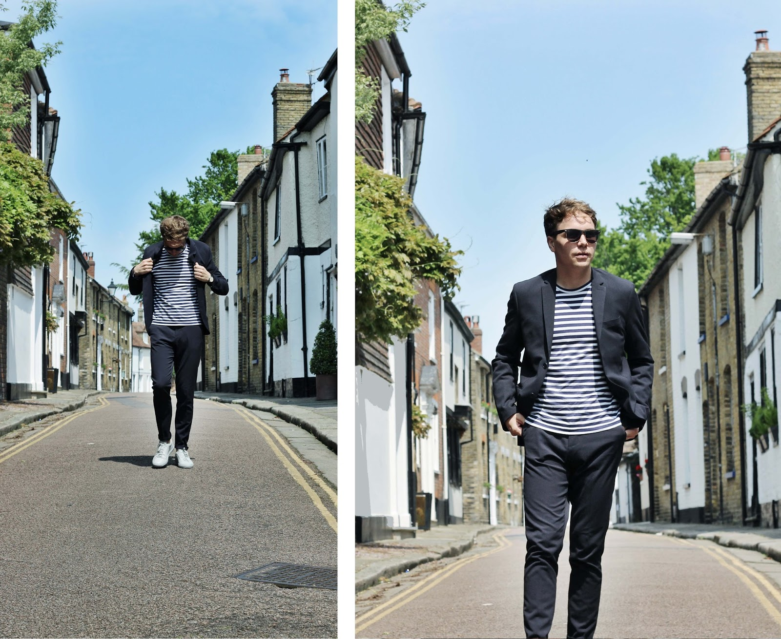 Fashion blogger from margate James Bron Brown in commes des garcon and common projects