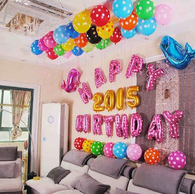 dekorasi ulang tahun dewasa sederhana di rumah