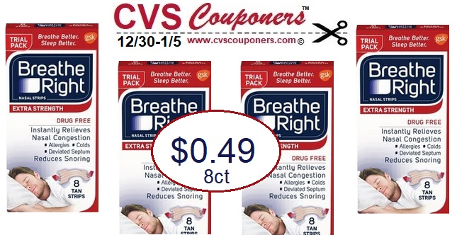 score breathe right nasal strips for  0 49 at cvs  plus