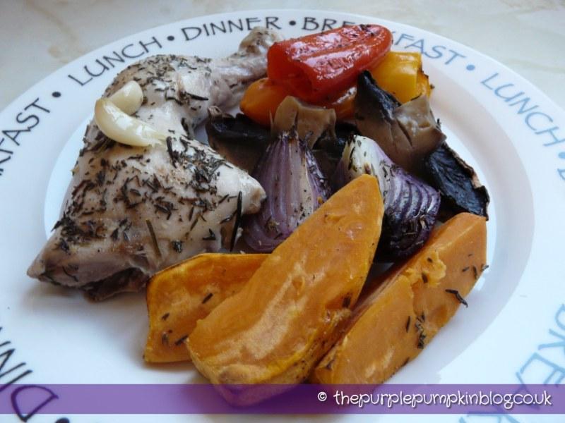 Chicken And Vegetable Traybake Under 400 Calories