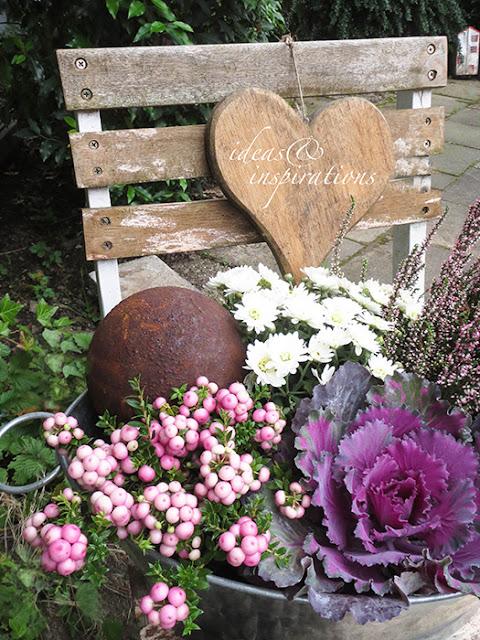 ideas and inspirations herbstliche gartendeko autumn dekoration. Black Bedroom Furniture Sets. Home Design Ideas