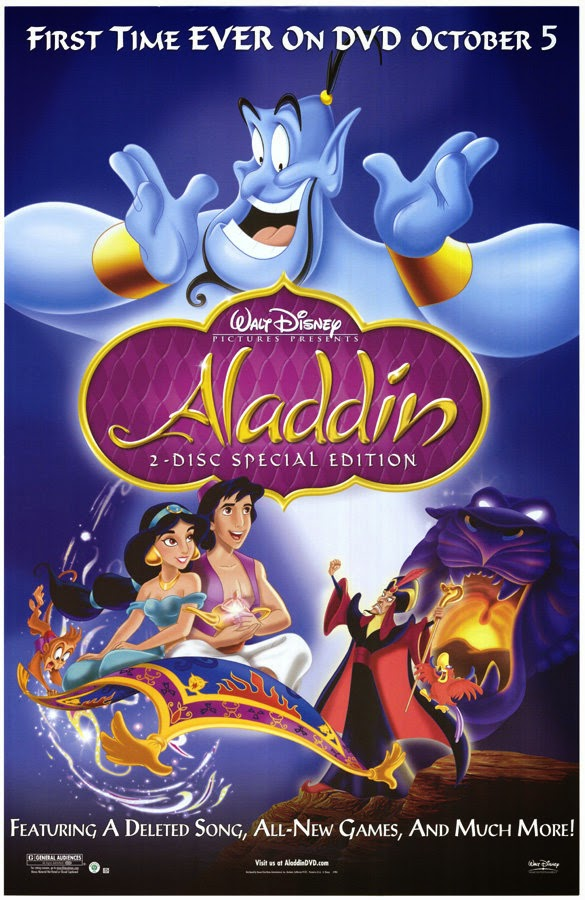 Aladdin 1992 //animatedfilmreviews.filminspector.com/2012/12/aladdin-1992-king-of-genies.html