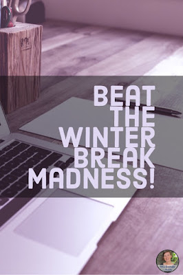 Life as a middle school teacher can get hectic around the winter break!  Beat the madness!  #teaching #classroom
