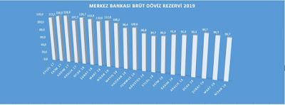 Merkez Bankası Brüt Döviz Rezervi 2019