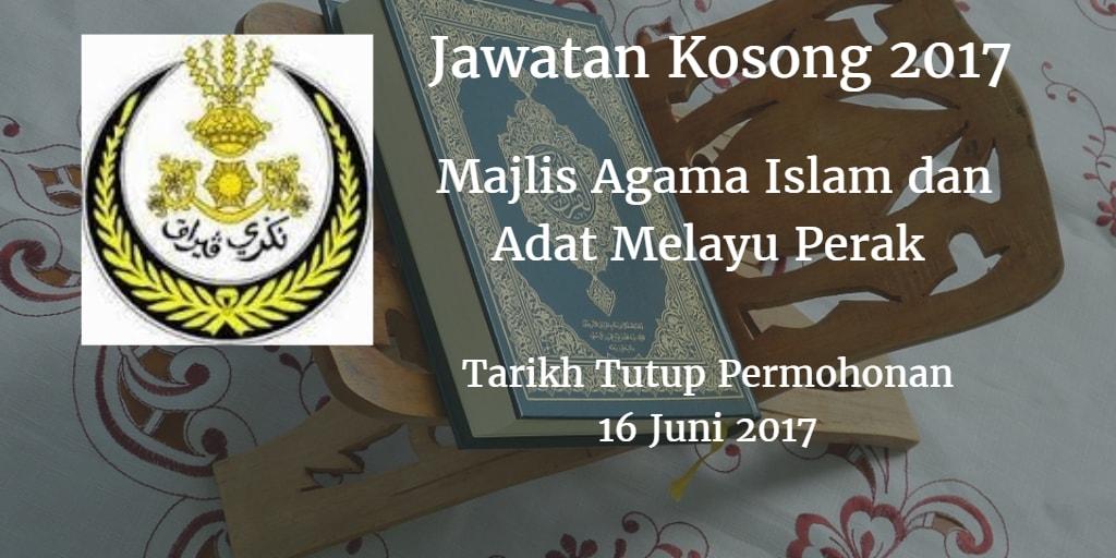 Jawatan Kosong MAIPK 16 Juni 2017