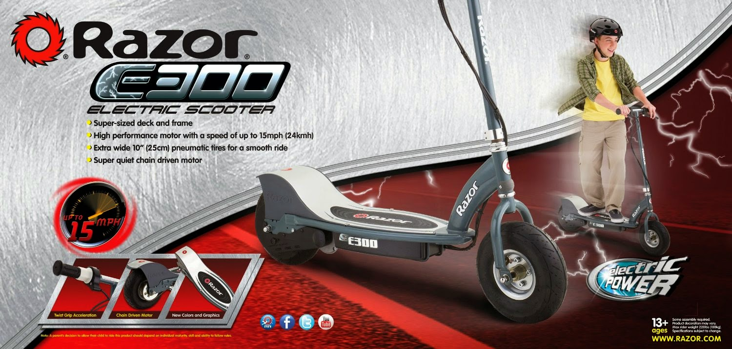 Razor E300 Electric Scooter - Scooter