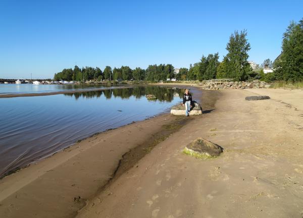 meri-pori uimaranta sataman lähellä