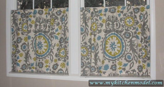 Yellow And Gray Kitchen Curtains