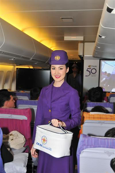 Air hotess cabin crew flight attendant dangling in plane 6