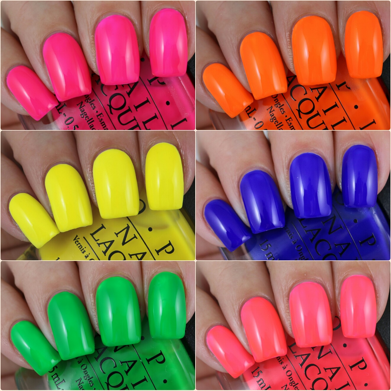 Olivia Jade Nails: OPI Tru Neons Collection - Swatches & Review