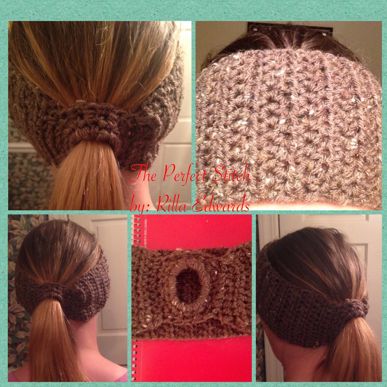 The Perfect Stitch...: Basic Ponytail Earwarmer/Headband