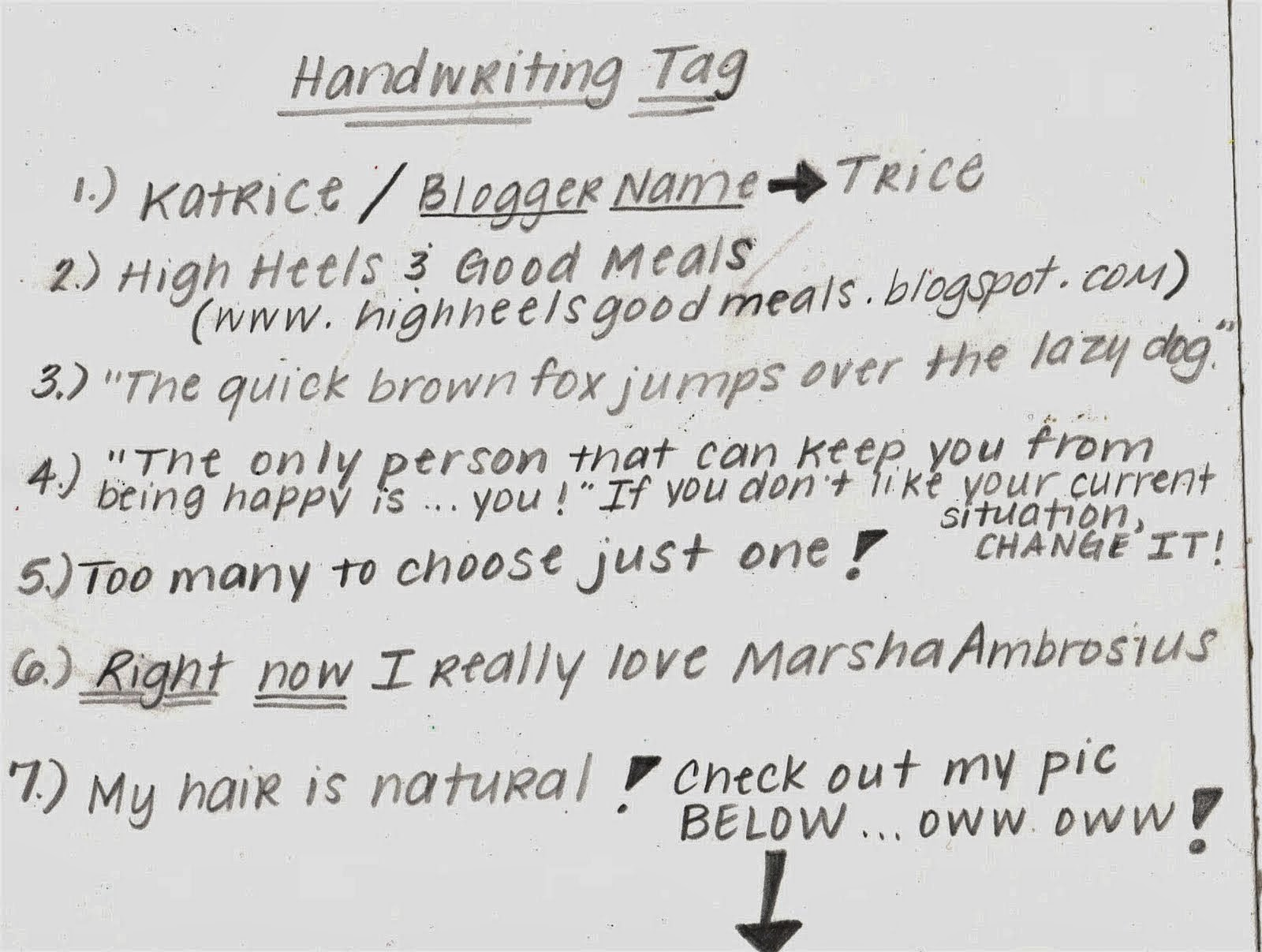 Handwriting Meaning