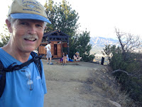 Dan Simpson leaving the Griffith Park Teahouse, July 24, 2015