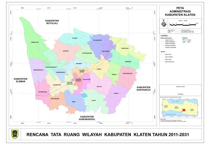 Peta Kota: Peta Kabupaten Klaten