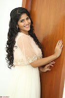 Megha Akash in beautiful Cream Transparent Anarkali Dress at Pre release function of Movie LIE ~ Celebrities Galleries 059.JPG