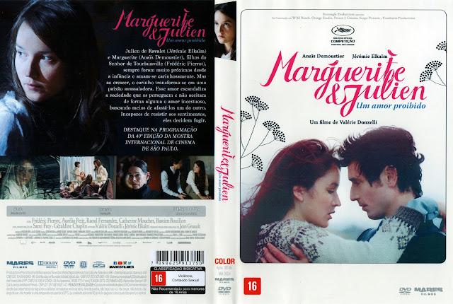 Capa DVD Marguerite e Julien Um Amor Proibido (Oficial)