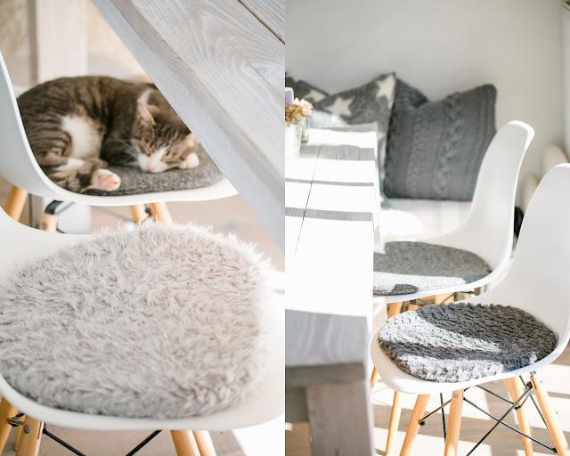 Sitzkissen für Eames, cushion for Eames, Pomponetti