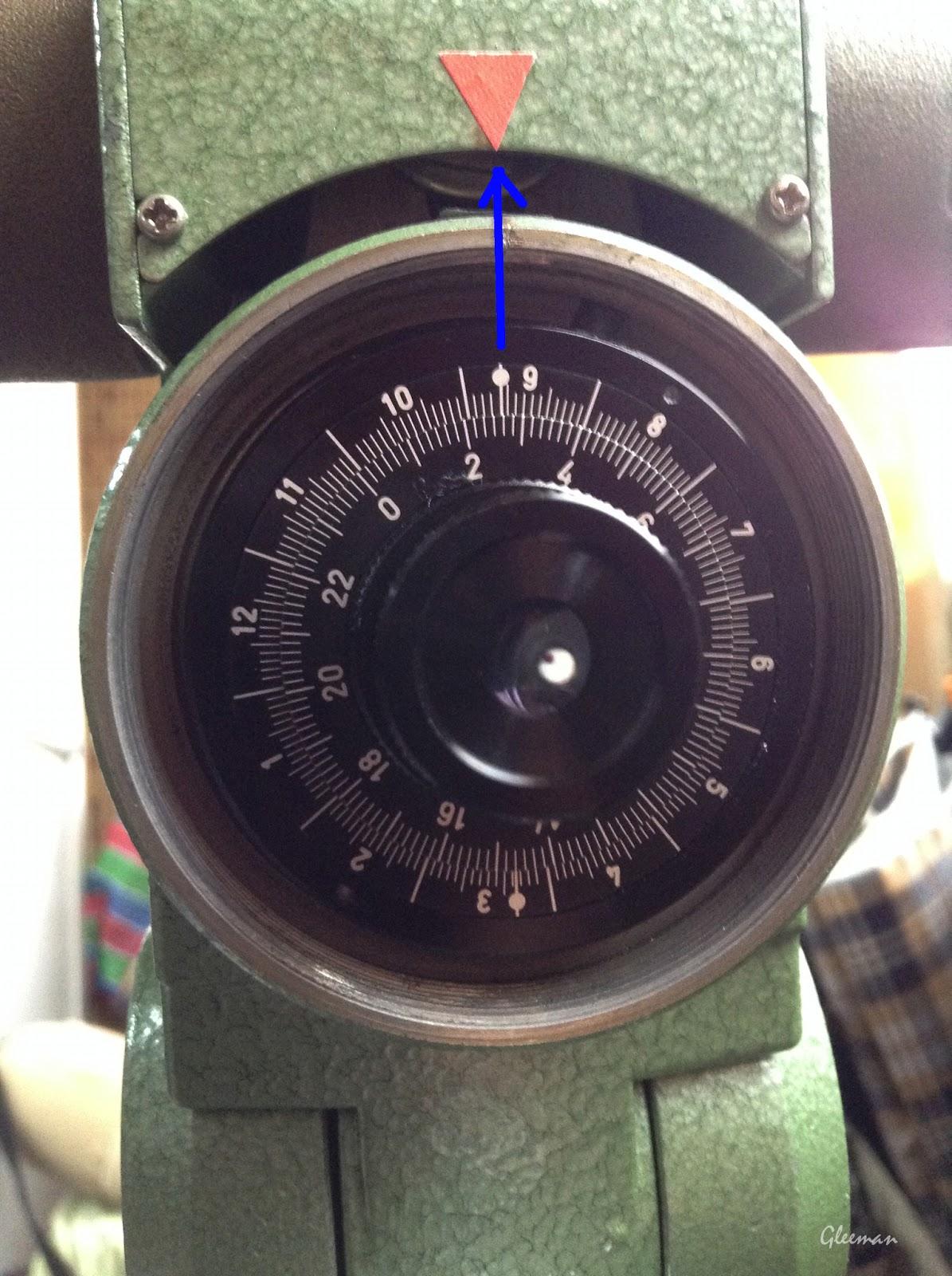 Pentax Ms-3 赤道儀, 在日期環秋分點上的原點記號對準軸體外殼的地方做上新對齊標記,