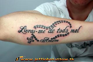 Tatuagem Livrai Me De Todo Mal Amém