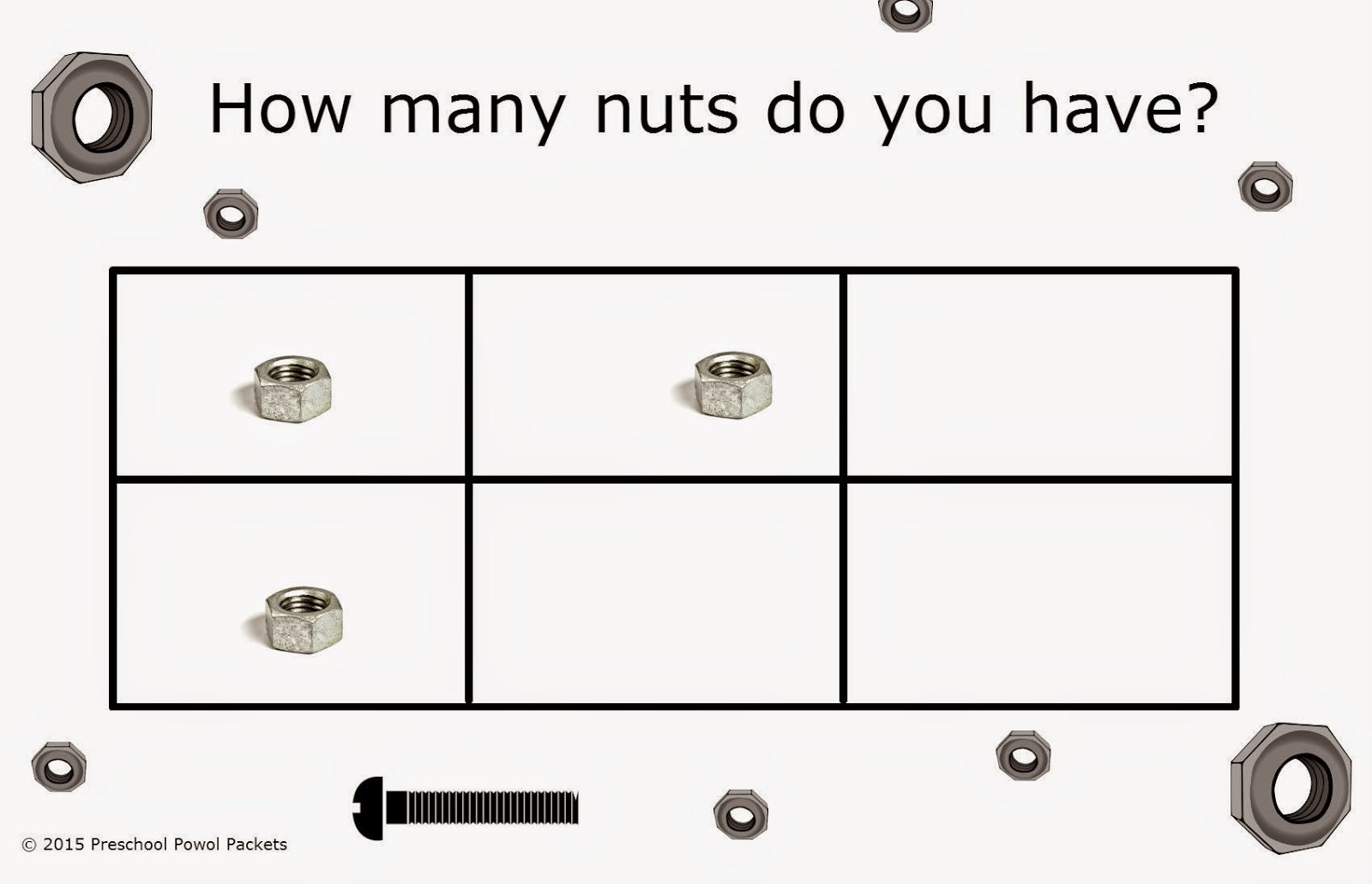 Preschool Math Nuts Amp Bolts More Or Less Game