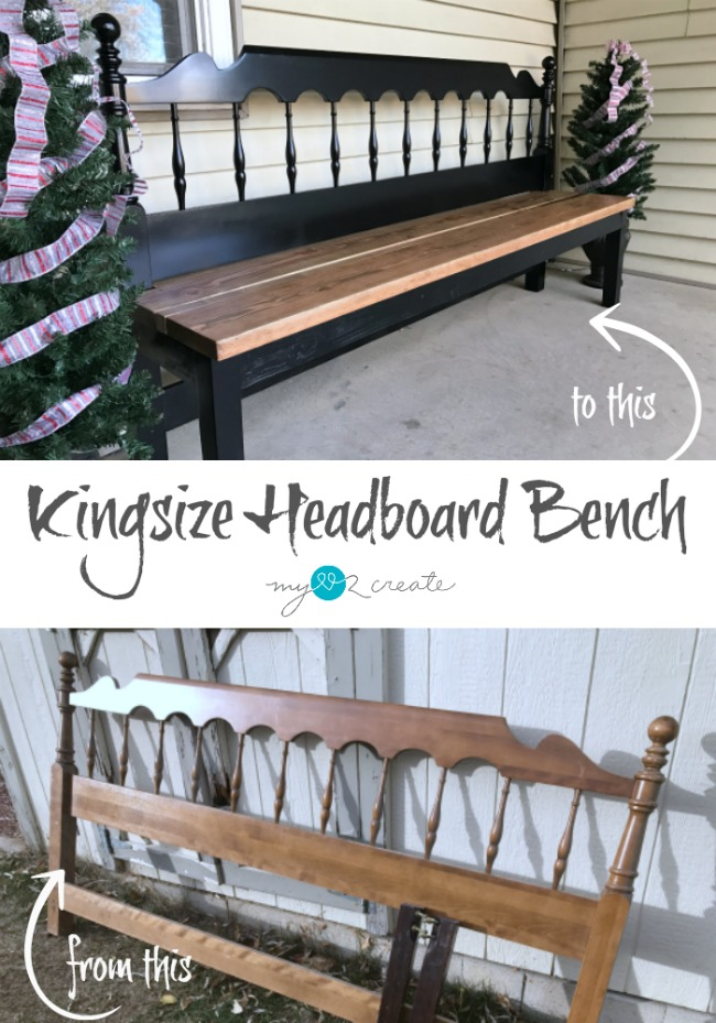 How to Make a Kingsize Headboard Bench full picture tutorial at MyLove2Create