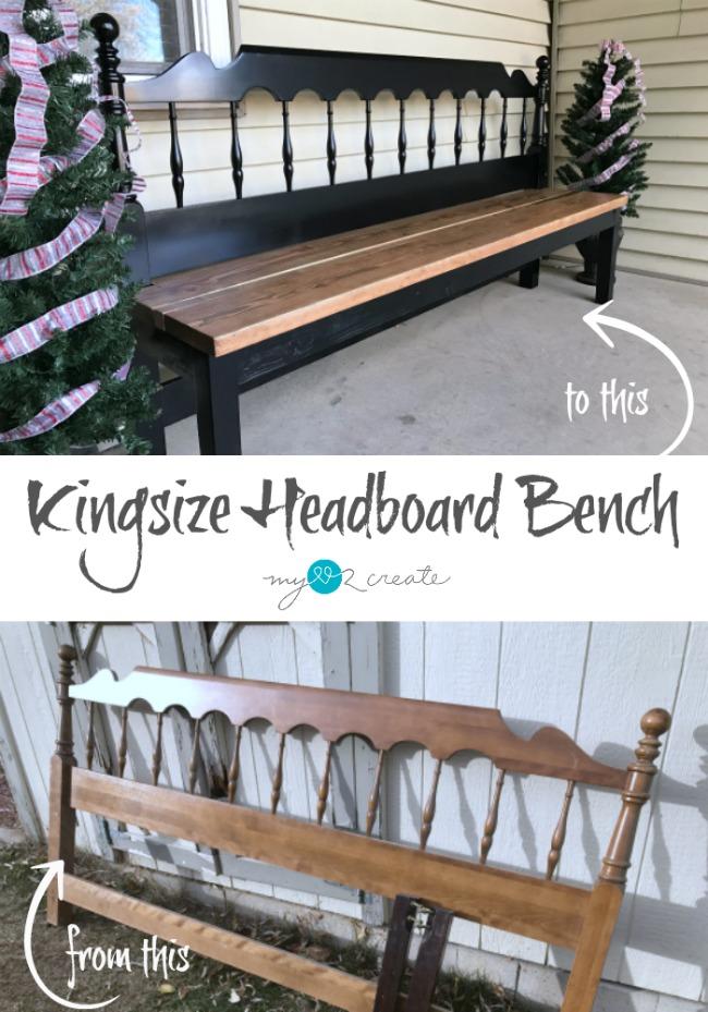 How To Make A Kingsize Headboard Bench, Diy Headboard Bench With Storage