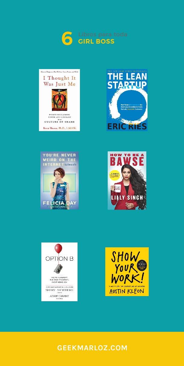 6 libros para toda Girl Boss