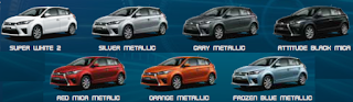 pilihan warna All New Yaris