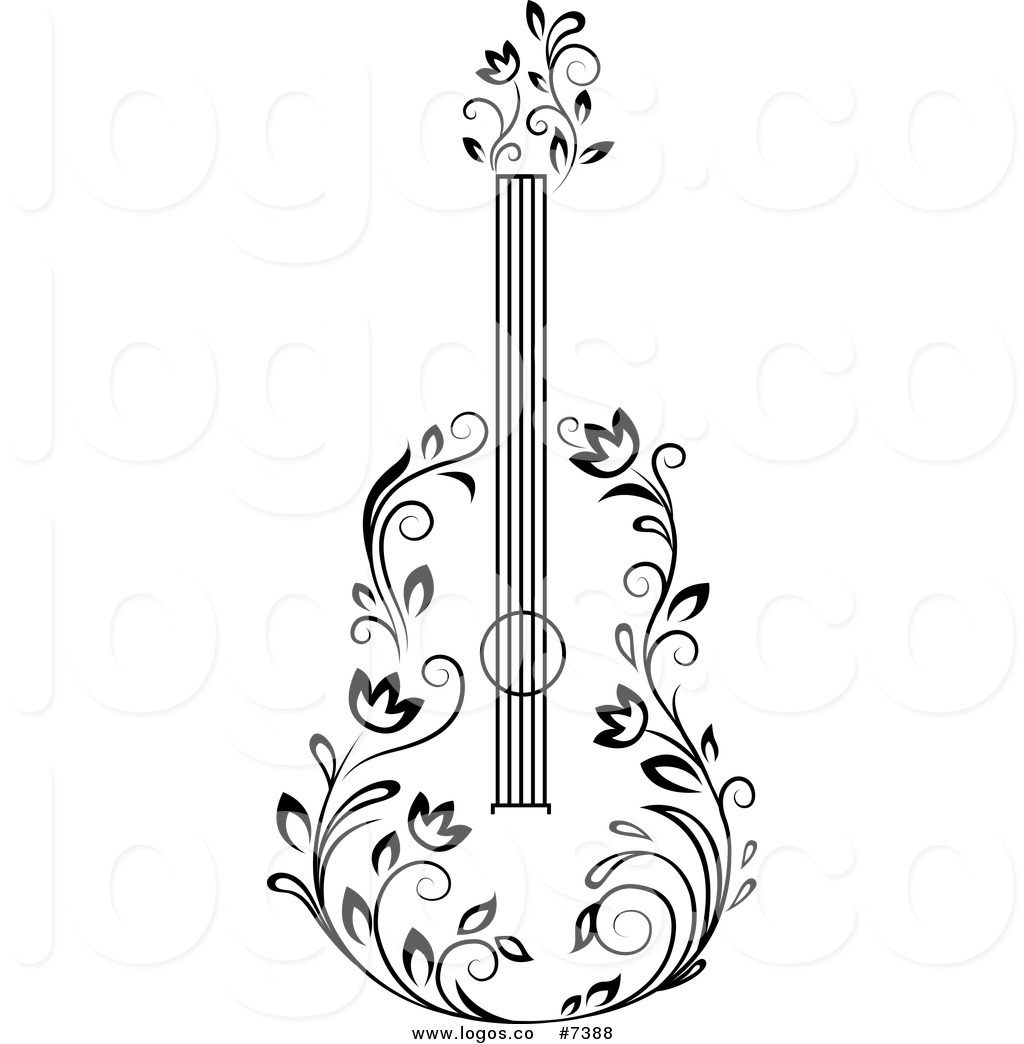 Staceysmile Creations Quilled Guitar