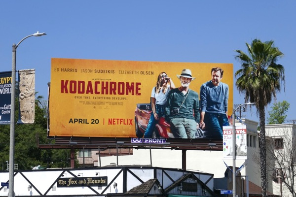 Kodachrome film billboard