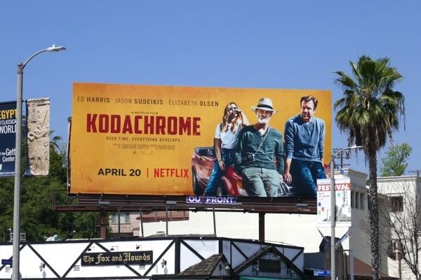Kodachrome film billboard