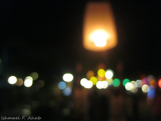 Blurry lights at Koh Samet Island