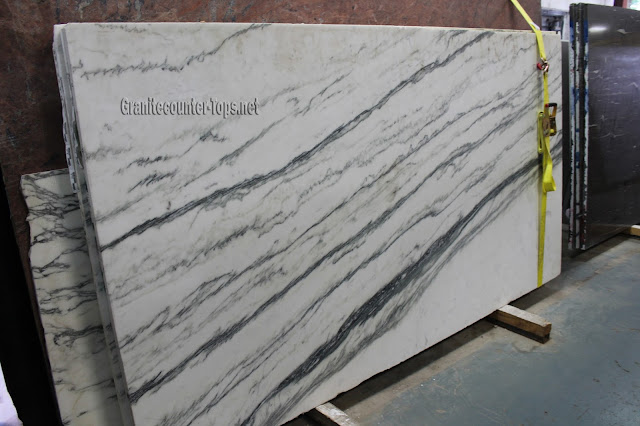 Mountain White Honed White Marble Slab