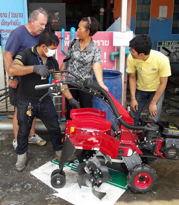 Thailand Isaan Garden tiller cultivator delivery