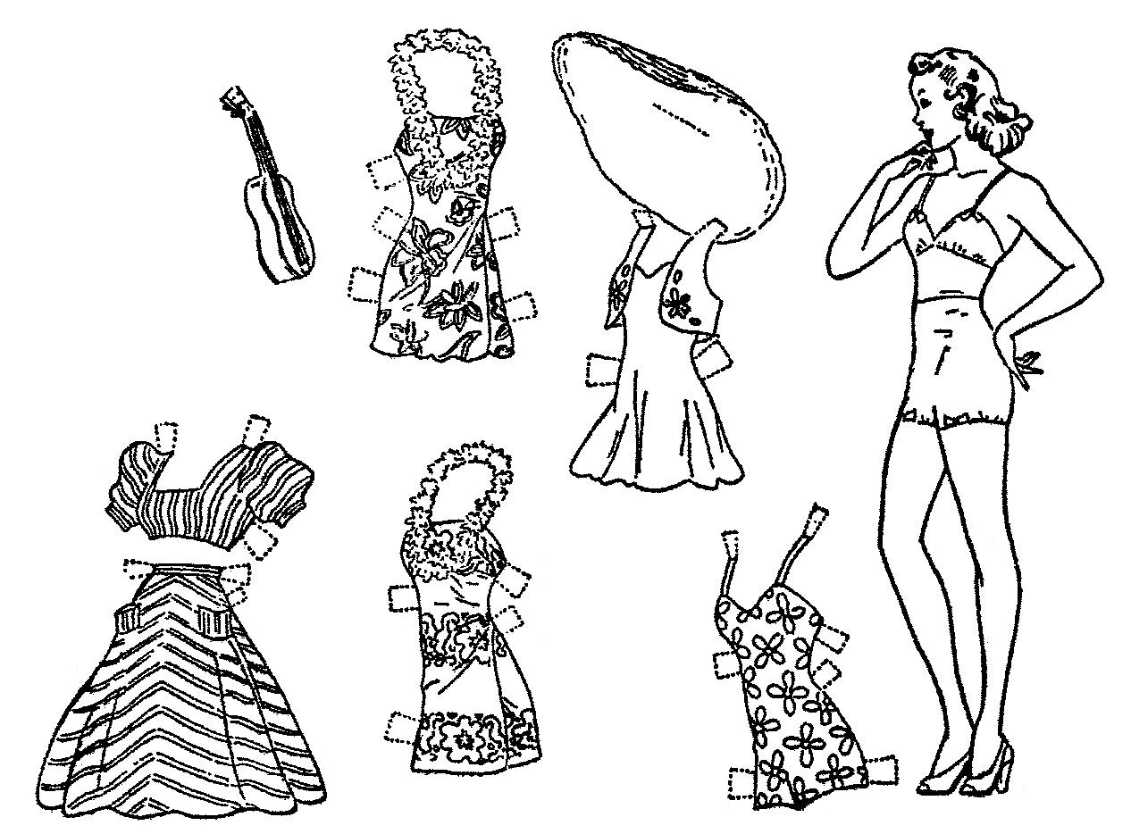 Mostly Paper Dolls Too!: DIXIE & MICKEY Have Some New Hot