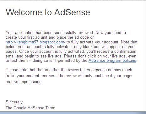 Ini e-mail dari google menandakan saya lulus test pertama :D nunggu test kedua
