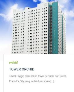TOWER ORCHID Apartemen Green Pramuka City