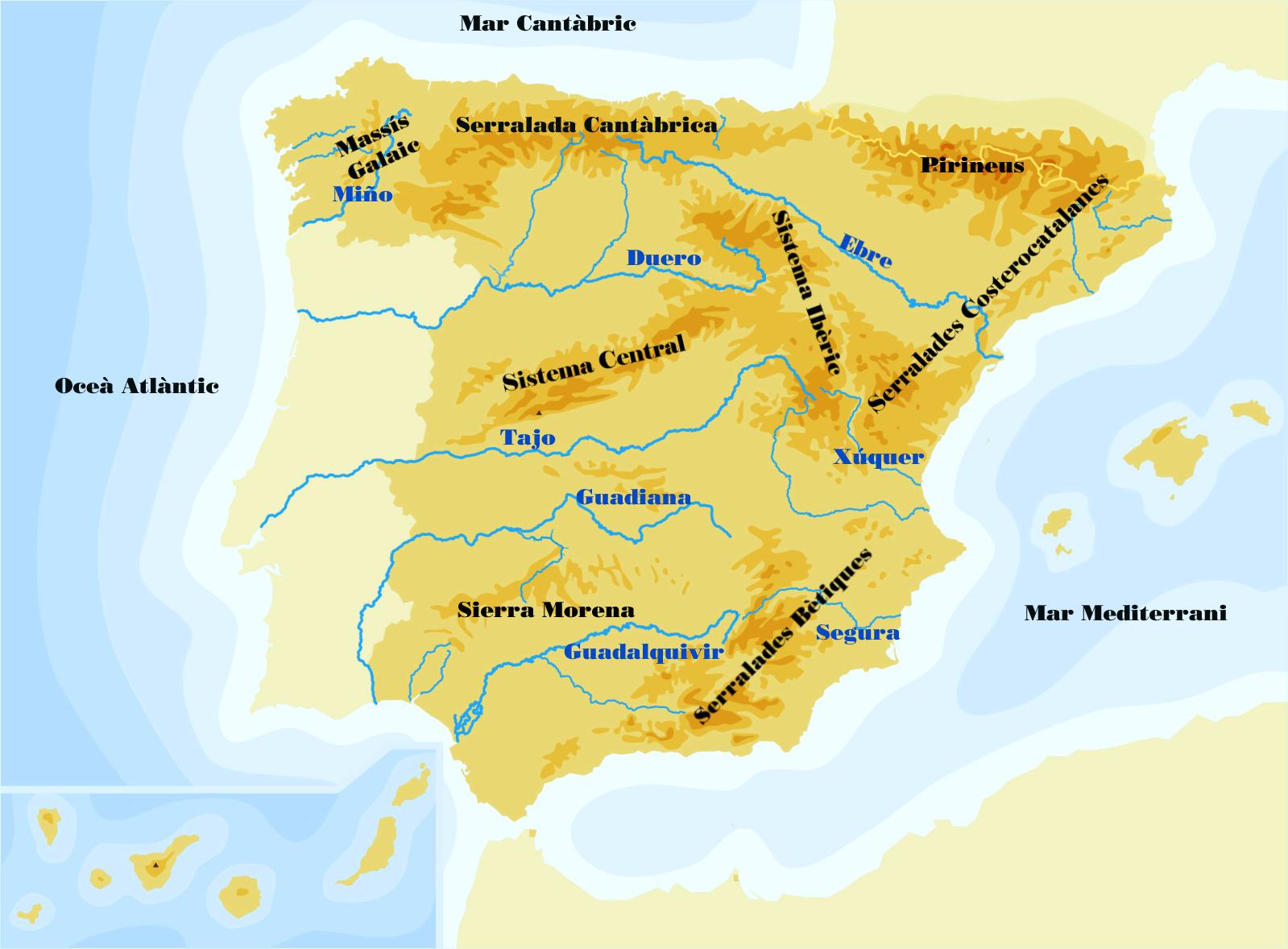Mapa Fisic D Europa Rius.Mapa Rius Europa