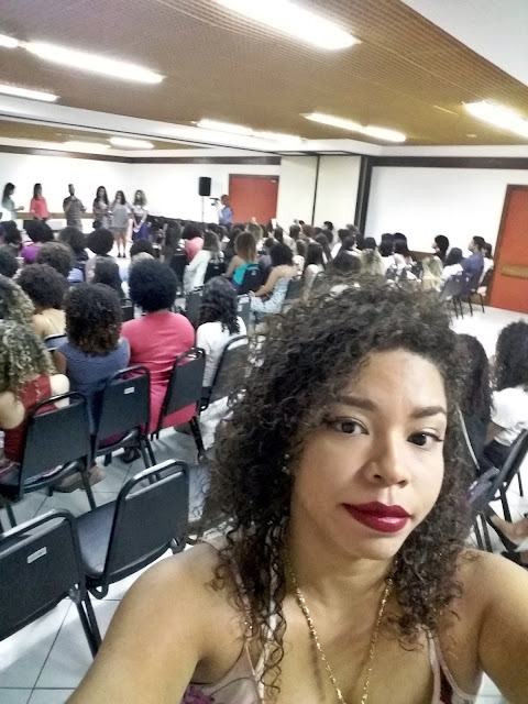 Encontro de cacheadas Salvador Kero Kachos, Natu Hair, selfie Josiene Minervino